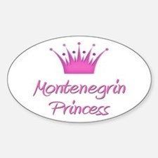 Montenegrin Princess Oval Decal