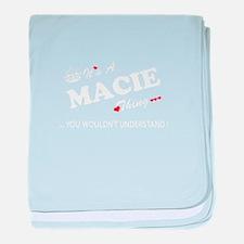 Cute Macie baby blanket
