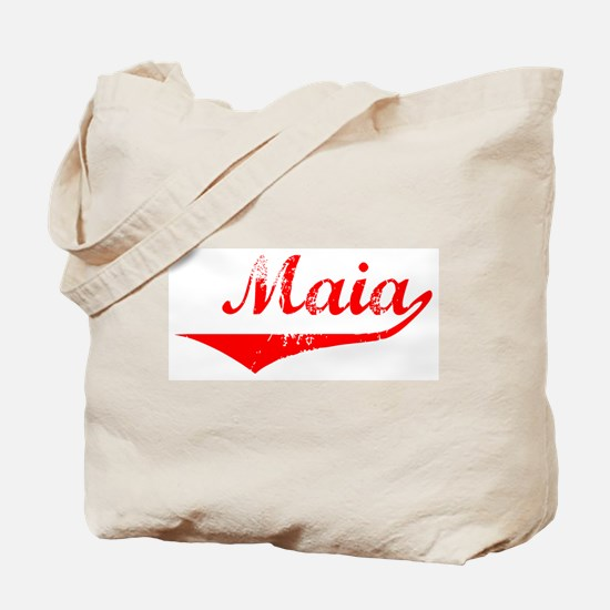 Maia Vintage (Red) Tote Bag