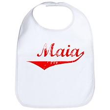 Maia Vintage (Red) Bib