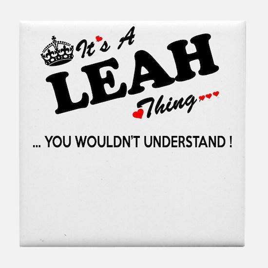 Cute Leah Tile Coaster