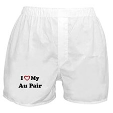 I Love My Au Pair Boxer Shorts