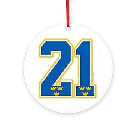 SE Sweden(Sverige) Hockey 21 Ornament (Round)