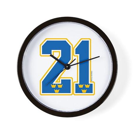 SE Sweden(Sverige) Hockey 21 Wall Clock