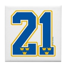 SE Sweden(Sverige) Hockey 21 Tile Coaster