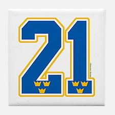 SE Sweden(Sverige) Hockey 21 Tile Coaster