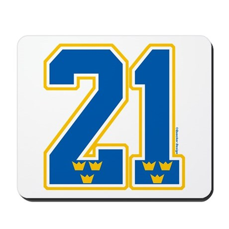 SE Sweden(Sverige) Hockey 21 Mousepad