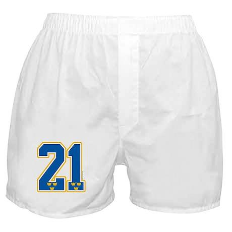 SE Sweden(Sverige) Hockey 21 Boxer Shorts