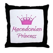 Macedonian Princess Throw Pillow