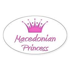 Macedonian Princess Oval Decal