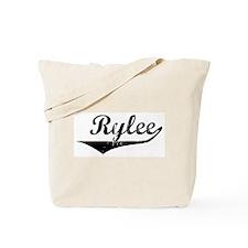 Rylee Vintage (Black) Tote Bag