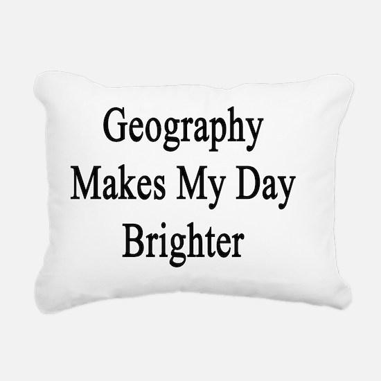 Unique Geography teacher Rectangular Canvas Pillow