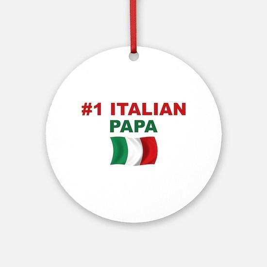 #1 Italian Papa Ornament