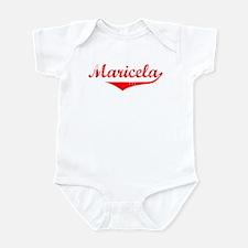 Maricela Vintage (Red) Infant Bodysuit