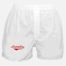 Mariela Vintage (Red) Boxer Shorts