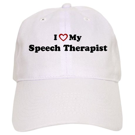 I Love My Speech Therapist Cap