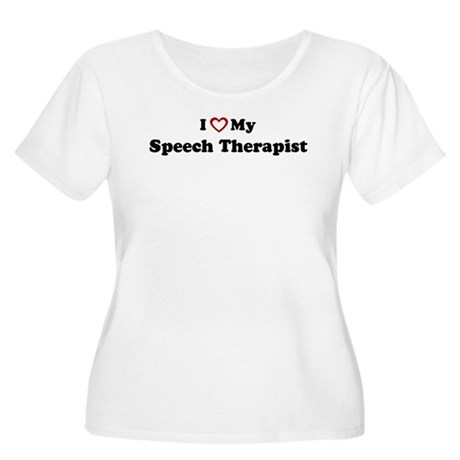 I Love My Speech Therapist Women's Plus Size Scoop