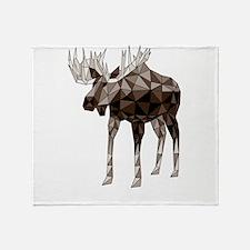 Geometric Moose Throw Blanket