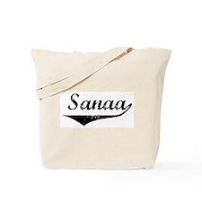 Sanaa Vintage (Black) Tote Bag