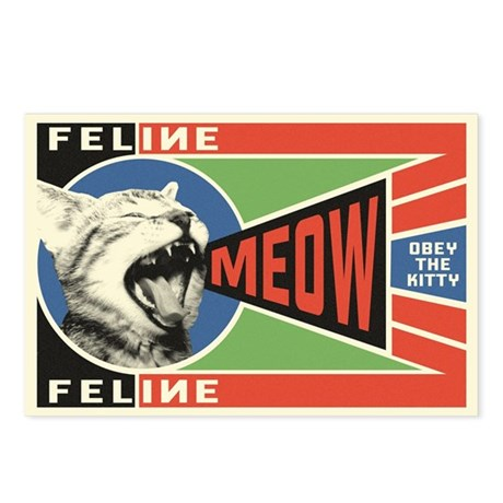 MEOW - Obey the Kitty! Postcards (Pack of 8)