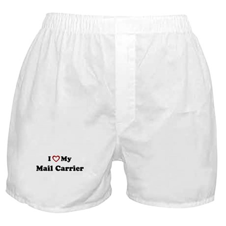 I Love My Mail Carrier Boxer Shorts