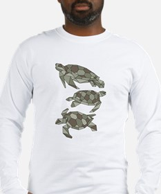 Geometric Turtle Long Sleeve T-Shirt