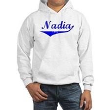 Nadia Vintage (Blue) Hoodie Sweatshirt
