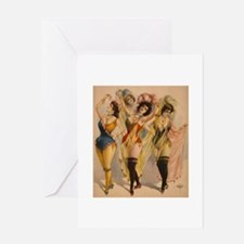 1899 Pinups Greeting Cards