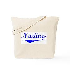 Nadine Vintage (Blue) Tote Bag