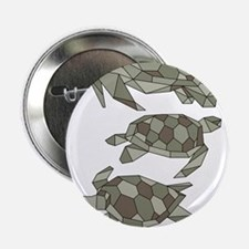 """Geometric Turtle 2.25"""" Button (10 pack)"""