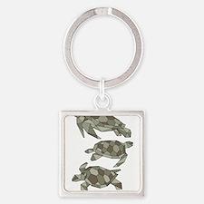 Geometric Turtle Keychains