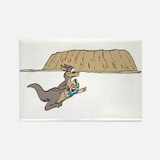 Fun Kangaroo Rectangle Magnet