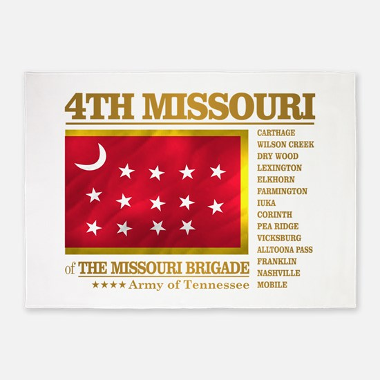 4th Missouri Infantry 5'x7'Area Rug
