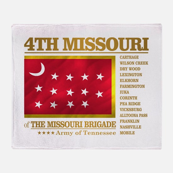 4th Missouri Infantry Throw Blanket