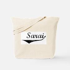 Sarai Vintage (Black) Tote Bag