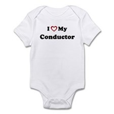 I Love My Conductor Infant Bodysuit