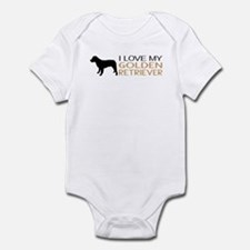 Dogs: I Love My Golden Retriever Infant Bodysuit