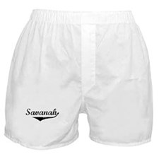Savanah Vintage (Black) Boxer Shorts