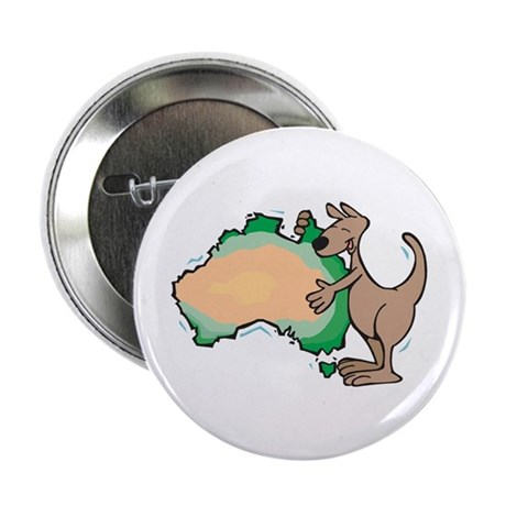 "Aussie Kangaroo 2.25"" Button (100 pack)"