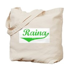 Raina Vintage (Green) Tote Bag