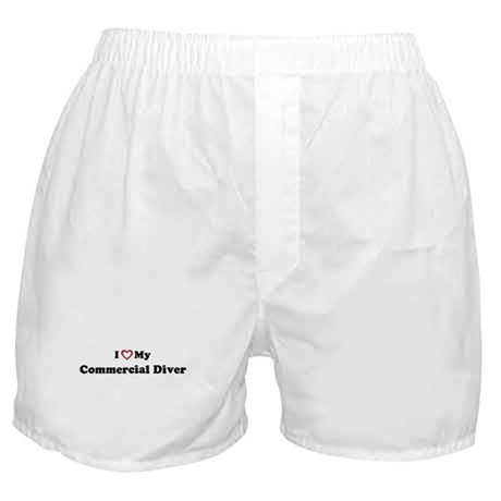 I Love My Commercial Diver Boxer Shorts