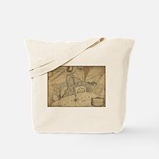 Vintage Map of Pensacola Florida (1778) Tote Bag
