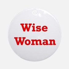 Wise Woman Ornament (Round)
