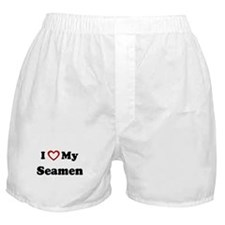I Love My Seamen Boxer Shorts