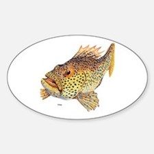 Coney Tropical Fish Oval Decal