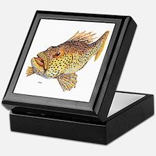 Coney Tropical Fish Keepsake Box