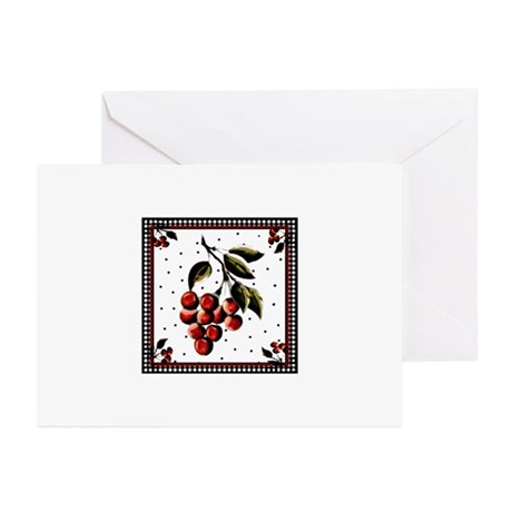 Cherries For Rene'e #1 - Greeting Cards (Pk of 20)