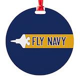 Navy flight Round Ornament