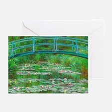 The Japanese Footbridge by Claude Monet Greeting C