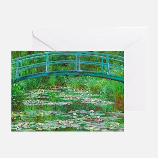 The Japanese Footbridge by Claude Monet Greeting C